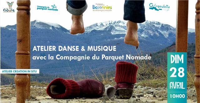 Atelier Danse et Musique © Cie du Parquet Nomade